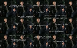 Supernatural Dean Quotes Wallpaper