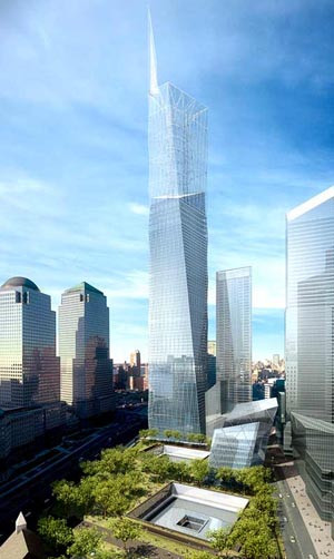 Construction began today on the Freedom Tower, which will be built at ...