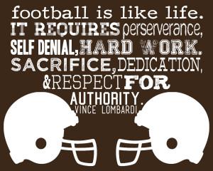 Football Is Like Life