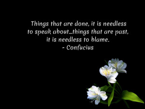 confucius quotes about past