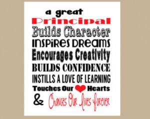 Principal Appreciation Gift, Principal Valentine Gift, Instant ...