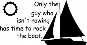 Boat rocking Funny Cute vinyl wall decal quote sticker decor ...