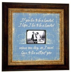 Favorite Quotes Wedding Frame