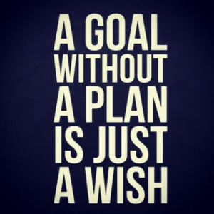 quotes - a goal without a plan