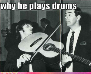 funny, guitar, ringo, ringo starr, text