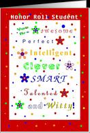 Congratulations, Academic Achievement, Honor Roll, Compliments card ...