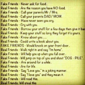 True / false friends quote