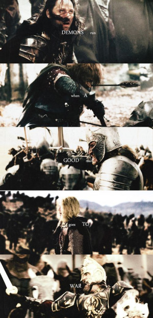 ... drown the sun when a good man goes to war #lotr--quote from Doctor Who