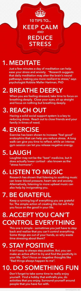 Keep calm and how to reduce stress