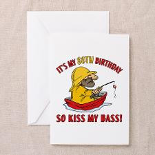 Fishing Gag Gift For 80th Birthday Greeting Card for