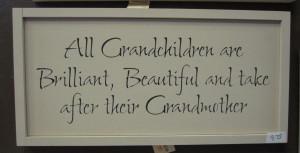 Grandchildren Quote Sign