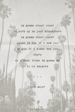 John mayer comfortable lyrics