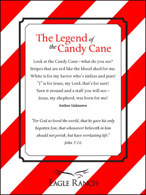 Legend of the Candy Cane. UNFORTUNATELY THIS IS THE SHORTENED VERSION.