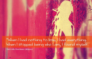 Paulo coelho i found myself quote