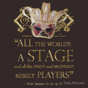 Shakespeare As You Like It Stage Quote | Women's T-Shirt