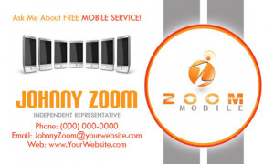 Business card designed for mobile phone service provider