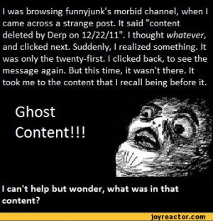 was browsing funnyjunk's morbid channel, when I came across a ...