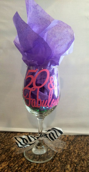 50 fifty and fabulous birthday wino custom by LeonLagniappe