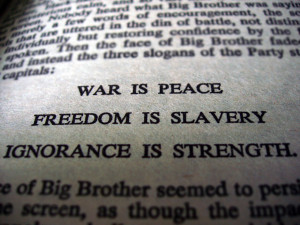 The goal of the INGSOC is to achieve total control over the people and ...