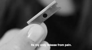 depressed sad self harm cutting scars razor razor blade