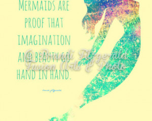 Rainbows and Mermaids Inspirational Quote Bold Colors Choose Lustre ...