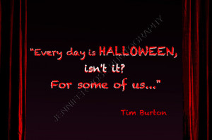Tim Burton Halloween Goth Quote Art 5x7 Framed Inspirational Print ...