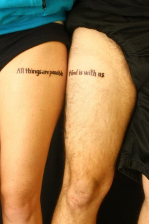 Couple Tattoos Designs, Ideas and Meaning
