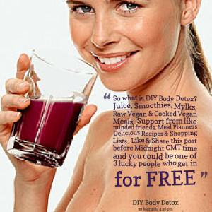 ... Picture: so what is diy body detox? juice, smoothies, mylks, raw vegan