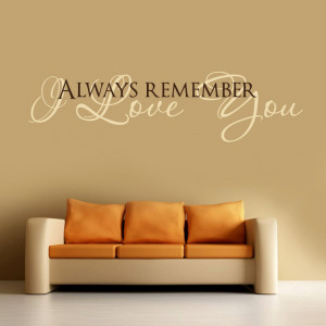 Love Quotes Wall Decal Bedroom Decor