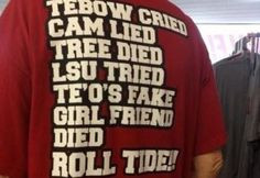 Funny Alabama Crimson Tide | This Alabama Football T-Shirt Gives No ...