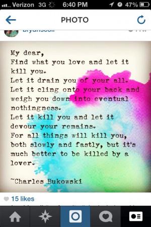 favorite Charles bukowski quote