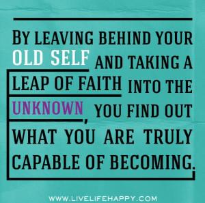 Leap of faith.. :)