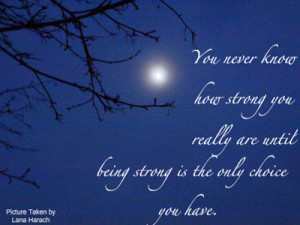 the moon and a quote