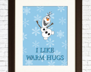 FROZEN - Olaf Wall Decor - I like warm hugs - Nursery Decor - For a ...