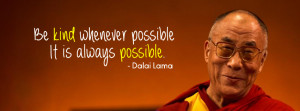 ... possible, it is always possible Dalai Lama Best Facebook Cover
