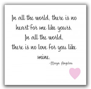 ... All The World There Is No Love For You Like Mine - Anniversary Quote