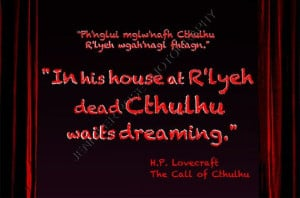 Lovecraft Cthulhu Goth Quote Art 5x7 by JenniferRoseGallery, $20 ...
