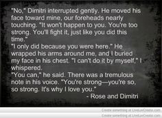 Vampire Academy Quotes | Rose and Dimitri | They are talking about the ...