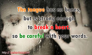 heart Picture Quotes , Hurt Picture Quotes , Tongue Picture Quotes ...