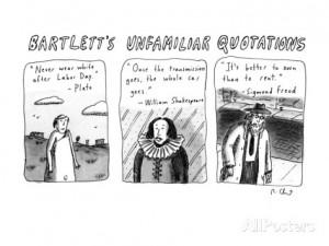 Bartlett's Unfamiliar Quotations - New Yorker Cartoon Premium giclée ...