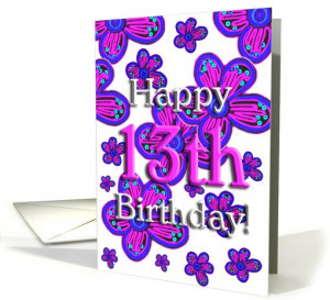 Happy 13th Birthday! - Verse Inside card (367633)