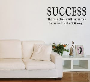 SUCCESS-WORK-Vinyl-Wall-Quote-Sticker-Saying-Decor-Inspirational-Decal ...