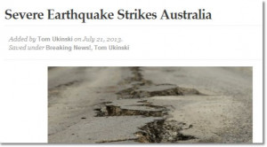 ... continues with a report of a severe earthquake centred in Seddon