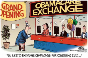 Obamacare Exchange Cartoon - Cagle Cartoons