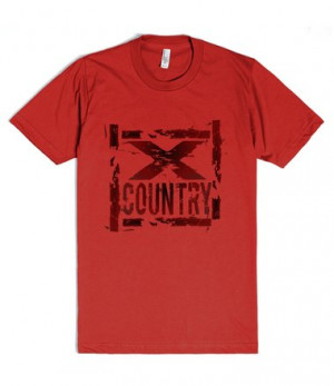 Cool Cross Country T-Shirts - Grunge X Country Tees