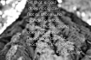 All that is gold does not glitter. ~J.R.R. Tolkien