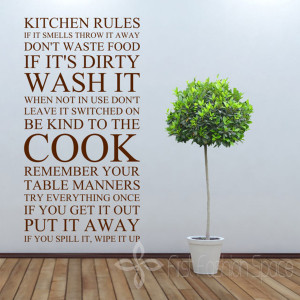 -Quote-Kitchen-Rules-Vinyl-Wall-Art-Sticker-Wall-Stickers-For-Kitchen ...