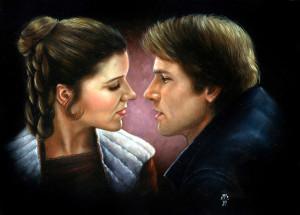 Leia and Han Solo han and leia