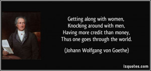 Getting along with women, Knocking around with men, Having more credit ...