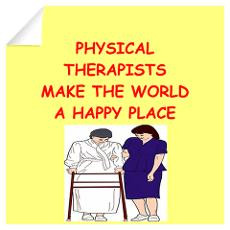 physical therapist Wall Art Wall Decal